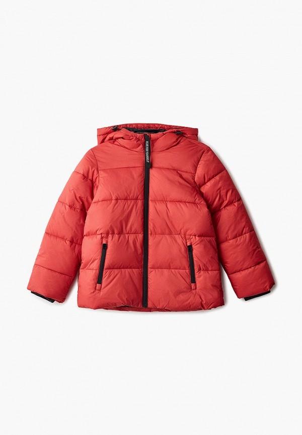 куртка sela для девочки, красная