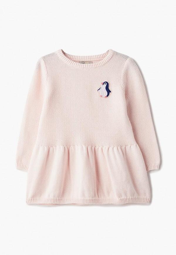 платье sela для девочки, розовое