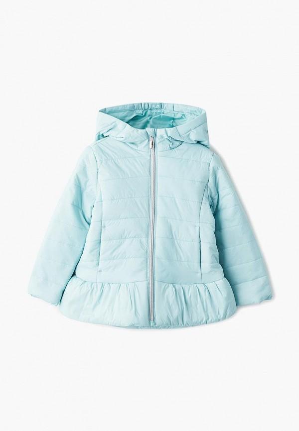 куртка sela для девочки, бирюзовая