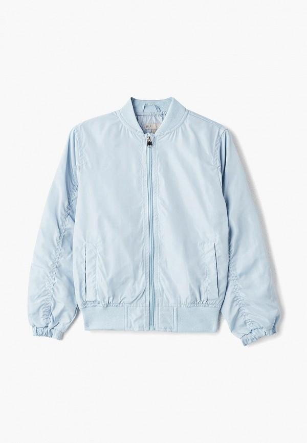 куртка sela для девочки, голубая