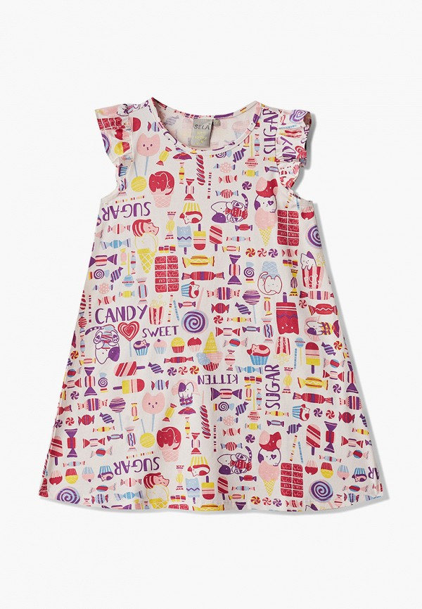 повседневные платье sela для девочки, разноцветное