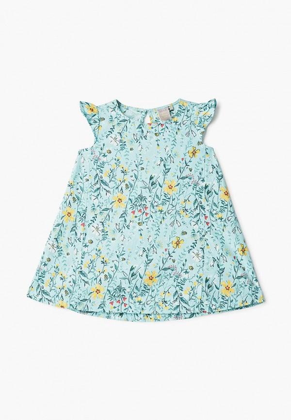 повседневные платье sela для девочки, бирюзовое