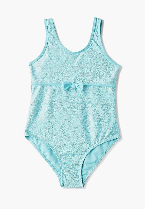 купальник sela для девочки, голубой
