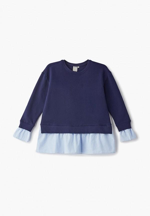 свитшот sela для девочки, синий