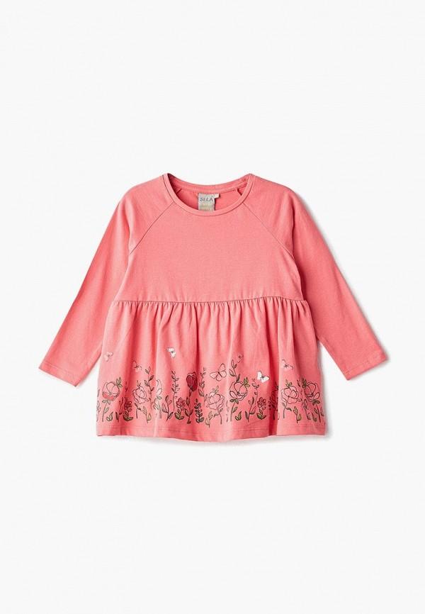 туника sela для девочки, розовая