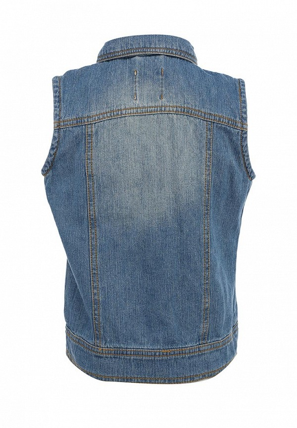 Фото 2 - Жилет джинсовый Sela голубого цвета