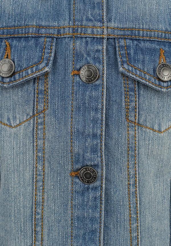 Фото 3 - Жилет джинсовый Sela голубого цвета