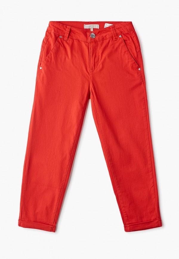 брюки sela для девочки, красные