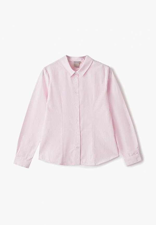 рубашка sela для девочки, розовая