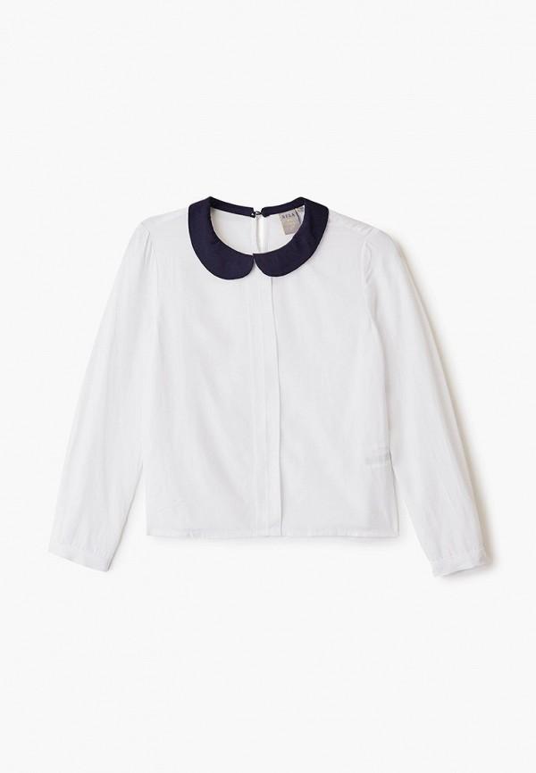 блузка sela для девочки, белая