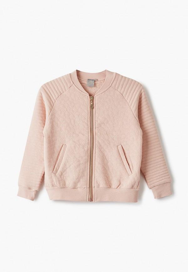 олимпийка sela для девочки, розовая