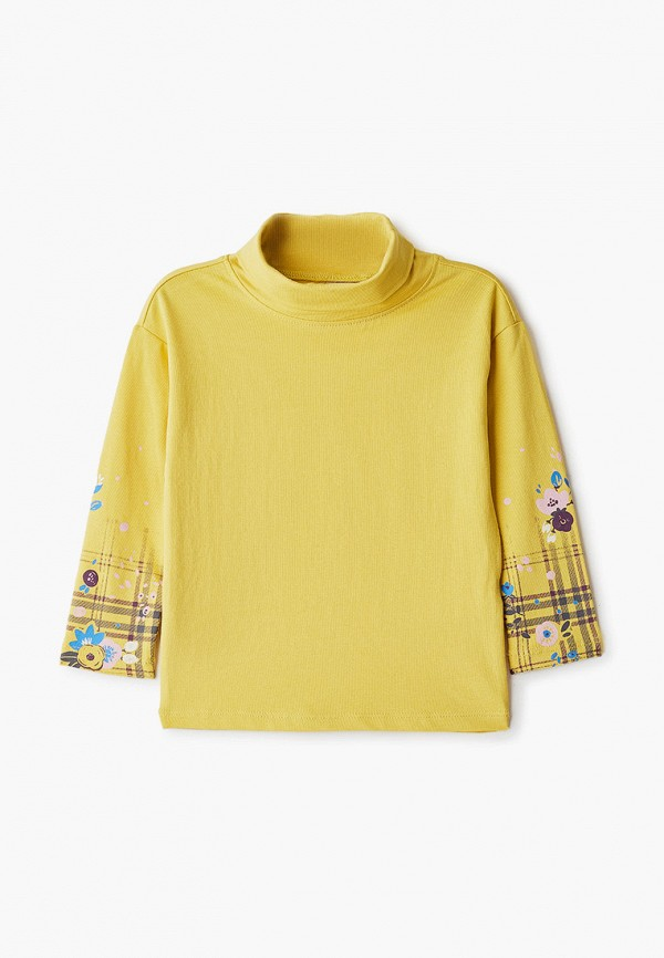 водолазка sela для девочки, желтая