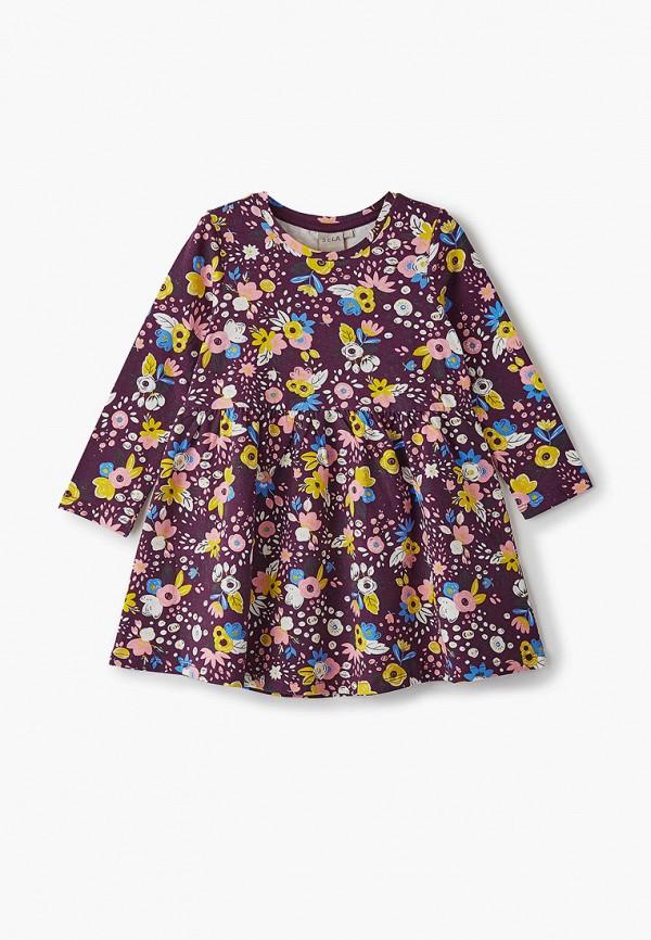 повседневные платье sela для девочки, бордовое