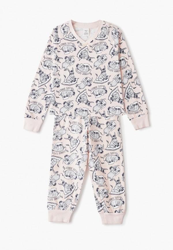 пижама sela для девочки, розовая