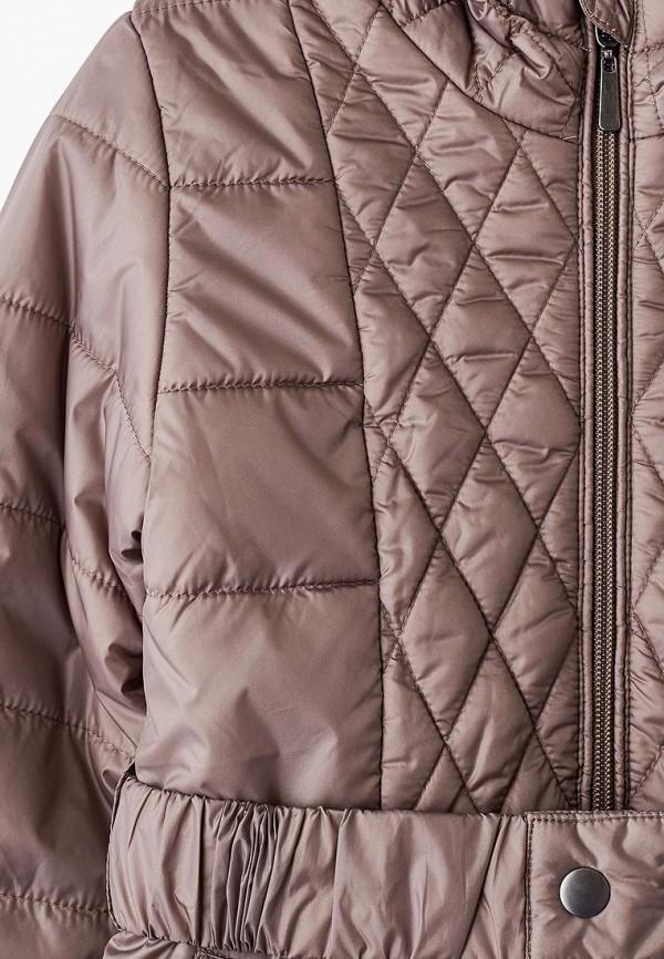 Фото 3 - Куртку утепленная Sela коричневого цвета
