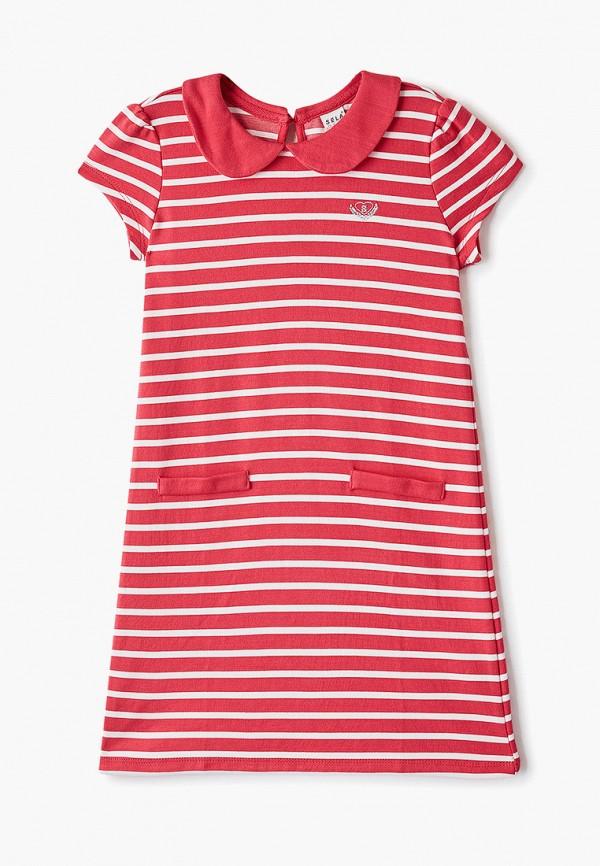 повседневные платье sela для девочки, розовое