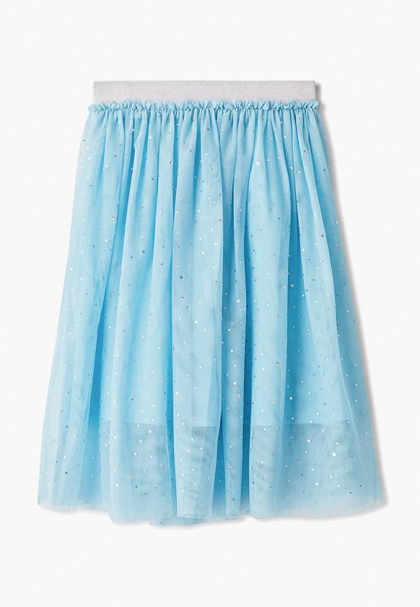 юбка sela для девочки, голубая