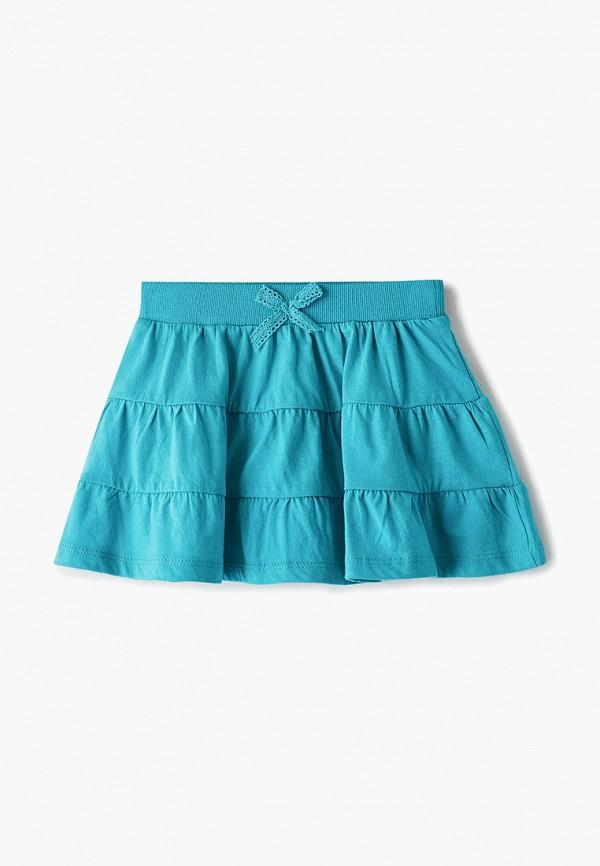 юбка sela для девочки, бирюзовая