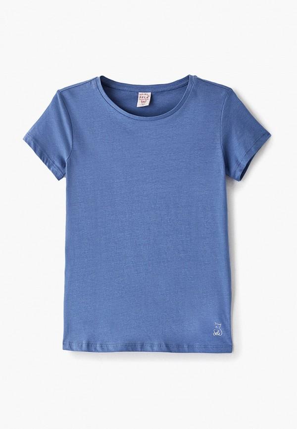 футболка с коротким рукавом sela для девочки, синяя