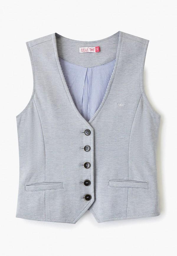 жилет sela для девочки, серый