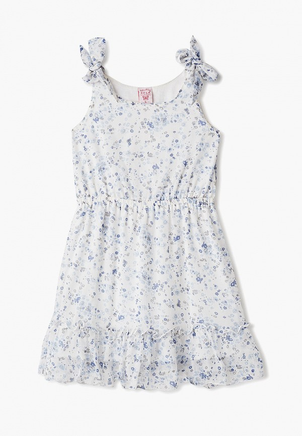 повседневные платье sela для девочки, белое