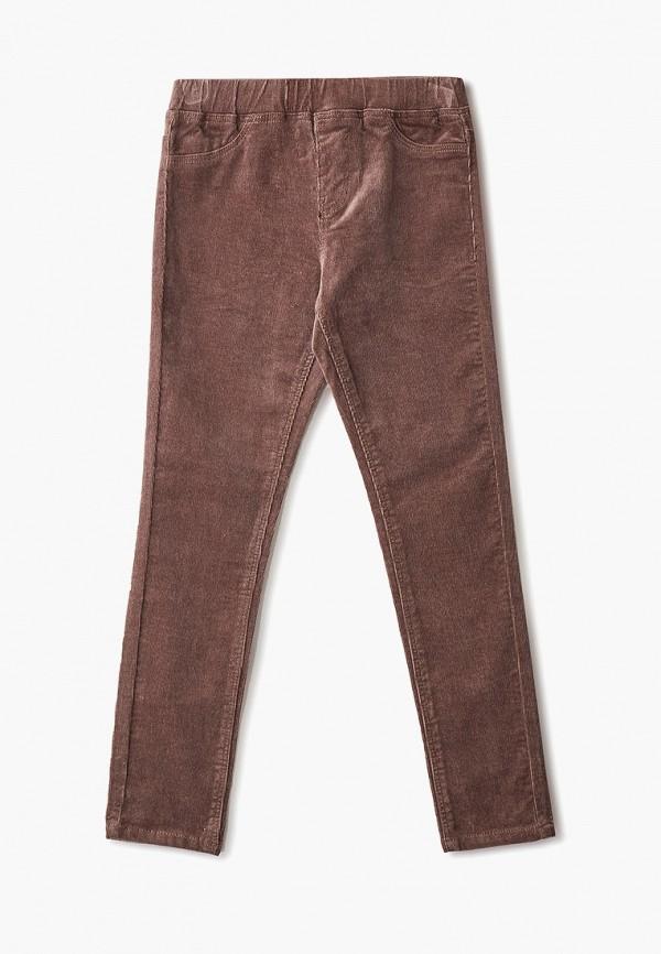 брюки sela для девочки, коричневые