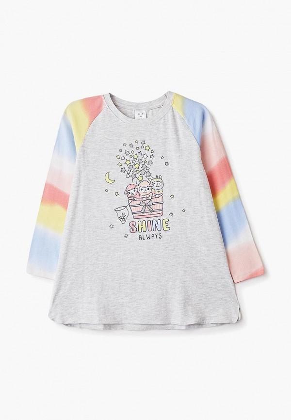 сорочка ночная sela для девочки, серые