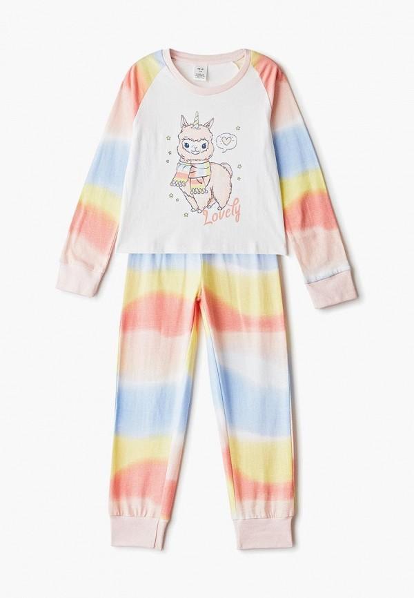 пижама sela для девочки, разноцветная