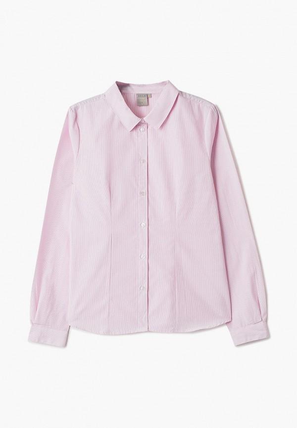 блузка sela для девочки, розовая