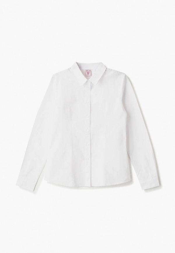 рубашка sela для девочки, белая