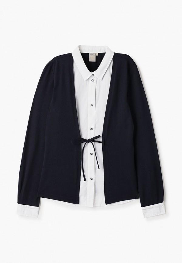 блузка sela для девочки, разноцветная