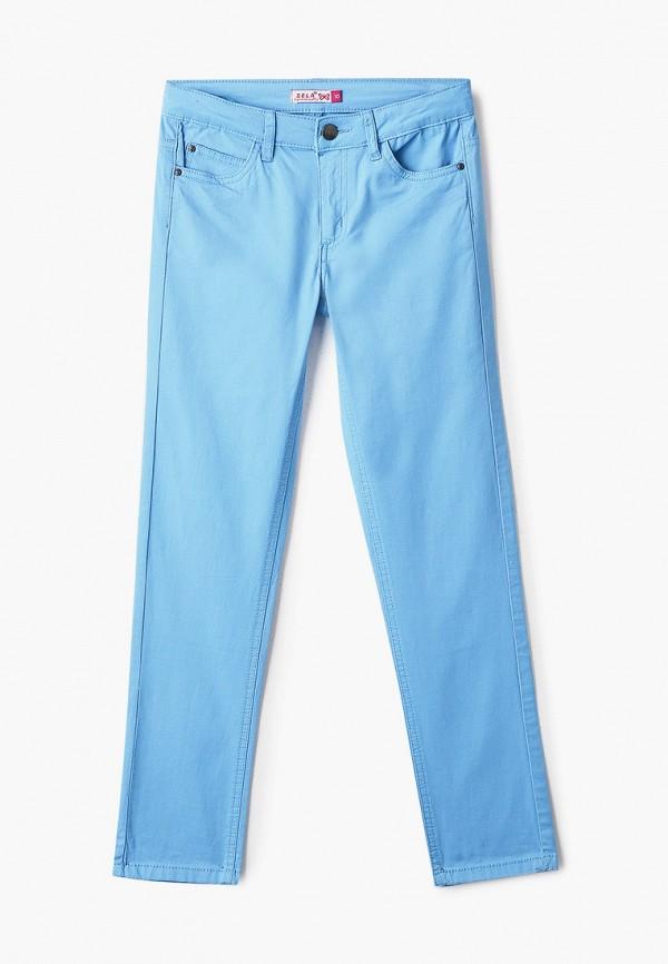 брюки sela для девочки, голубые