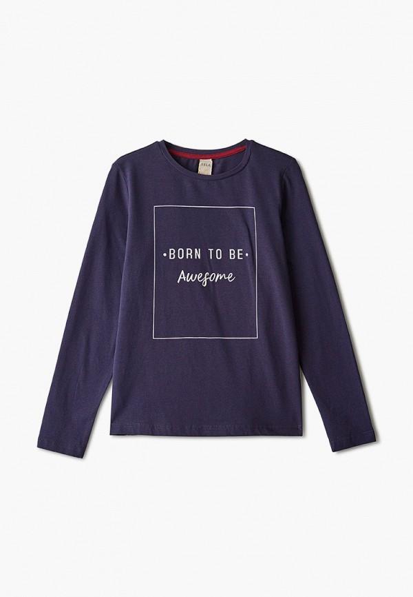 лонгслив sela для девочки, фиолетовый