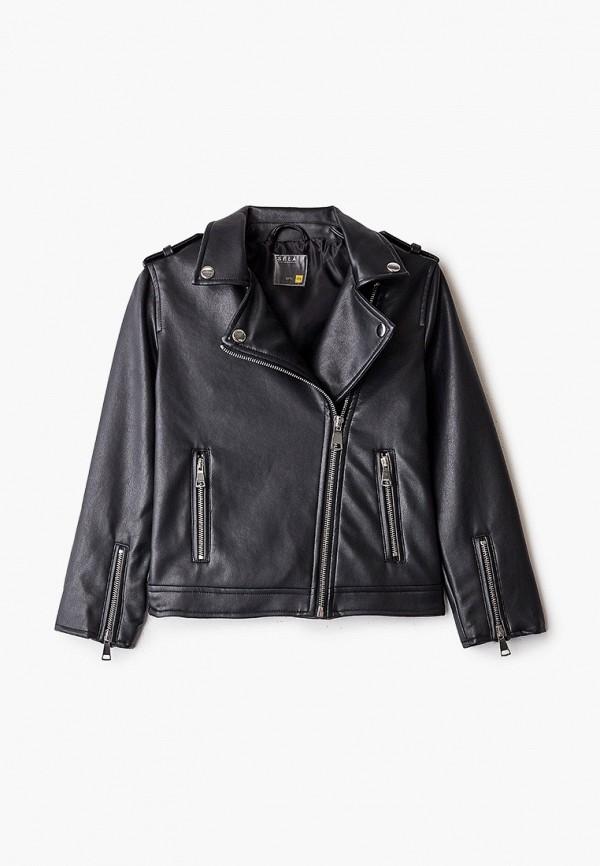 куртка sela для девочки, черная