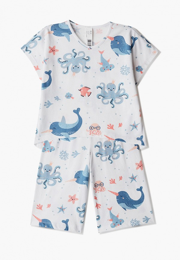 пижама sela для девочки, белая