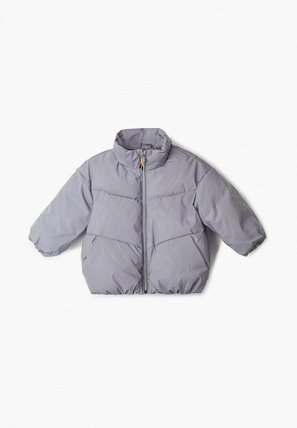 куртка sela для девочки, серая