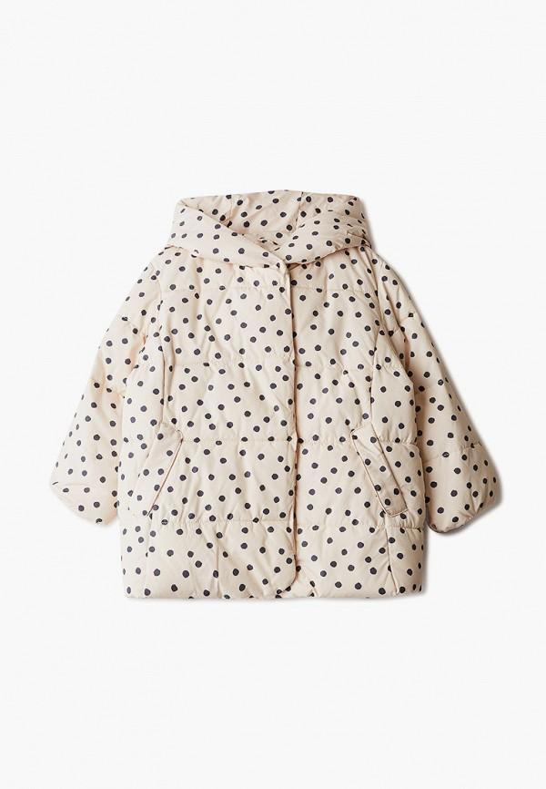 куртка sela для девочки, бежевая