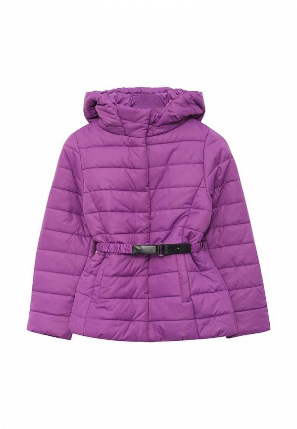 куртка sela для девочки, фиолетовая