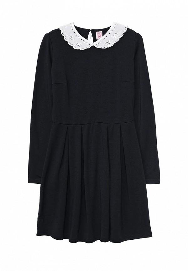 платье sela для девочки, синее
