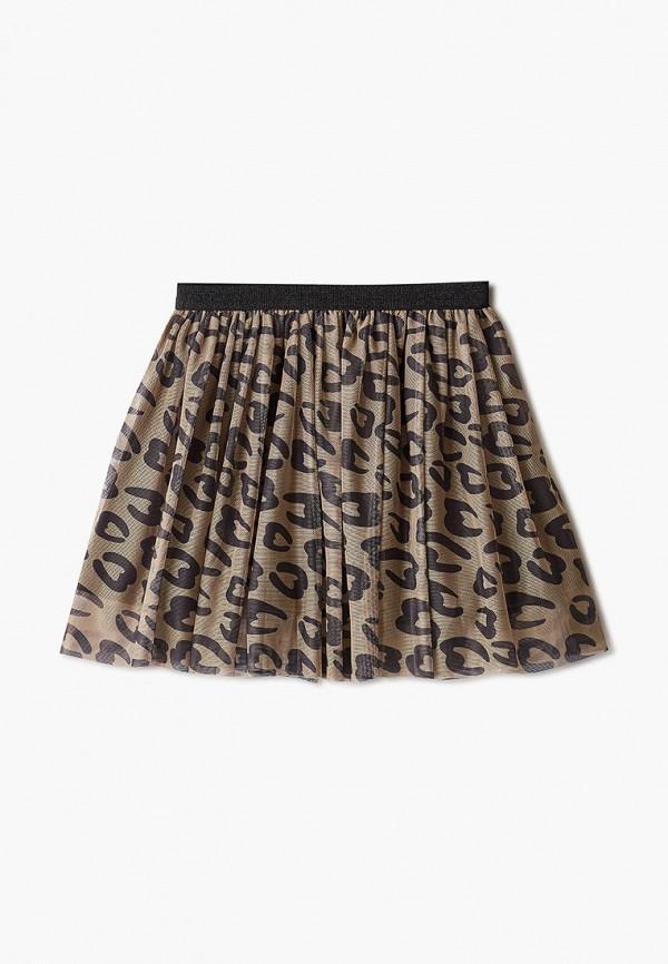 юбка sela для девочки, бежевая