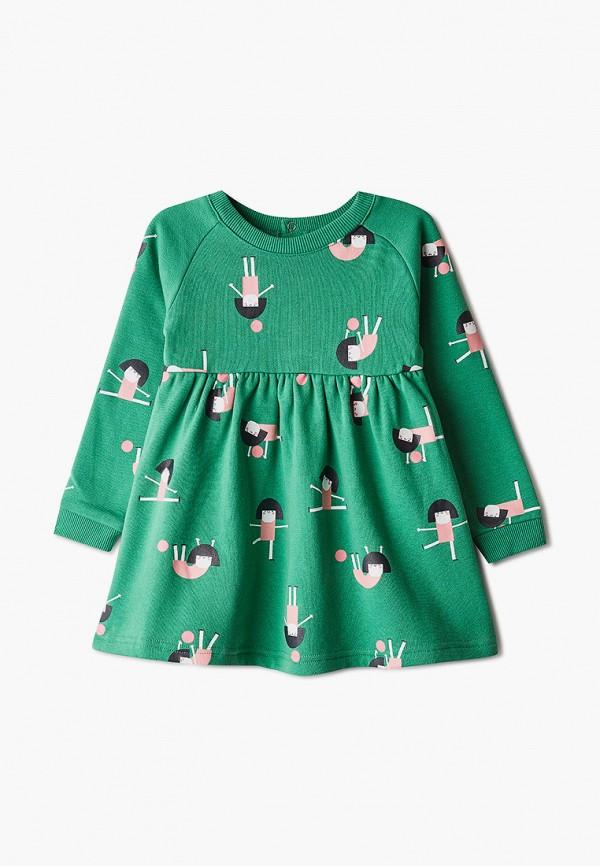 повседневные платье sela для девочки, зеленое