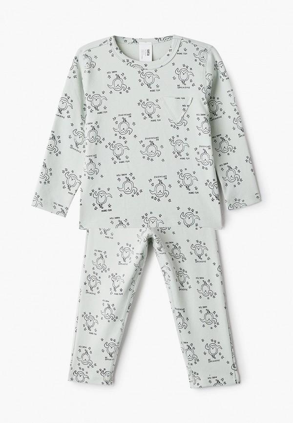 пижама sela для девочки, зеленая
