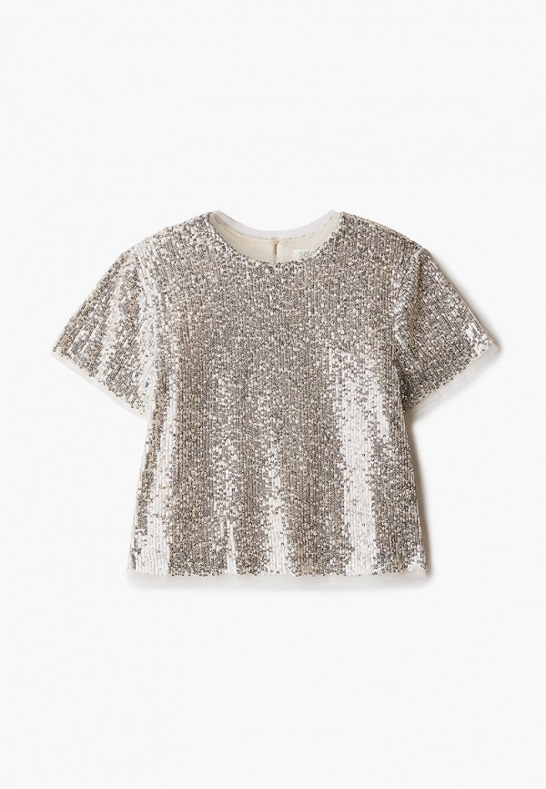 блузка sela для девочки, золотая