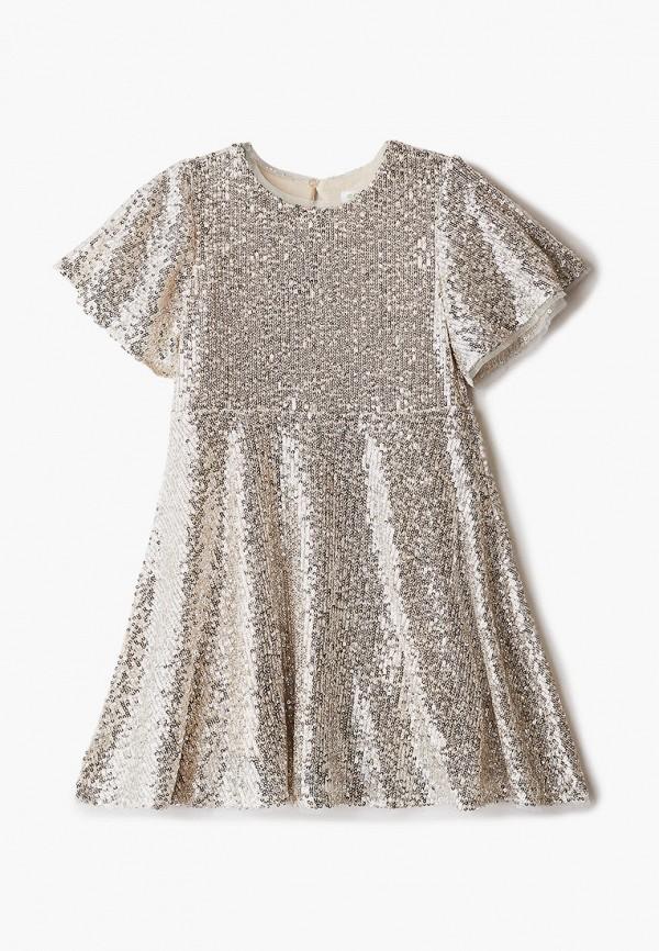 платье sela для девочки, золотое