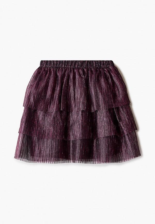 юбка sela для девочки, бордовая
