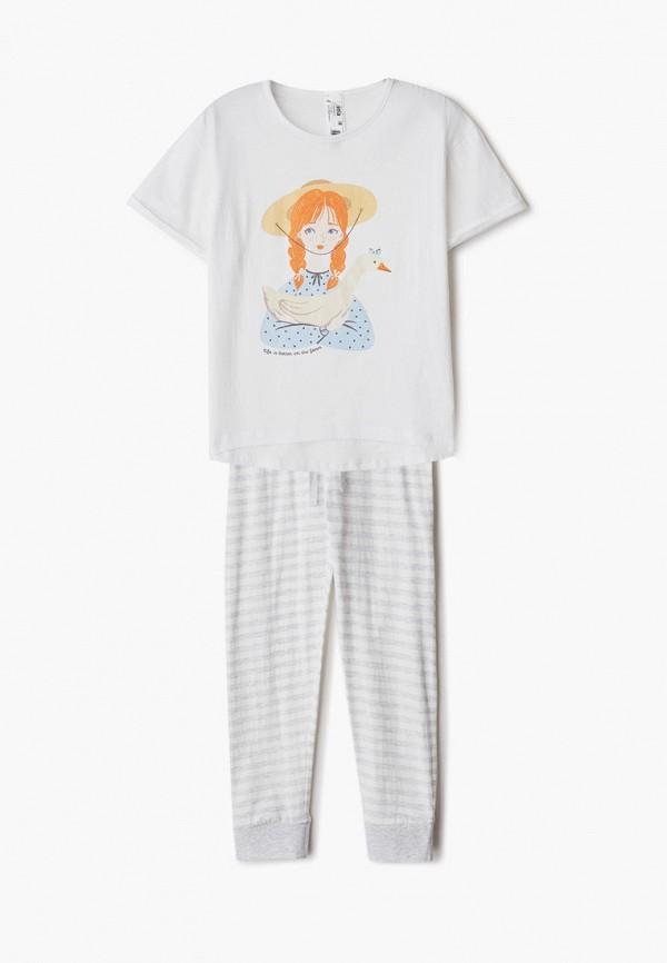 брюки sela для девочки, белые