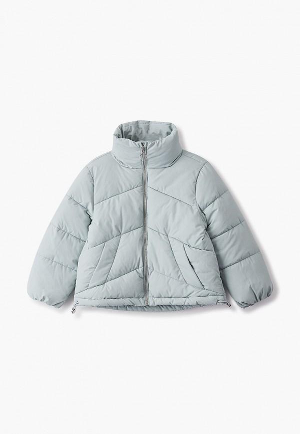 куртка sela для девочки, зеленая