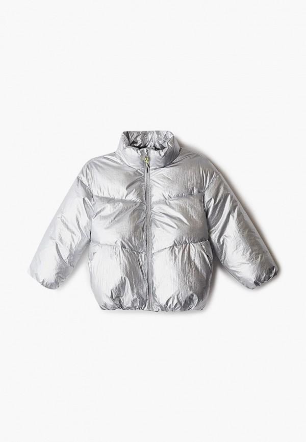куртка sela для девочки, серебряная