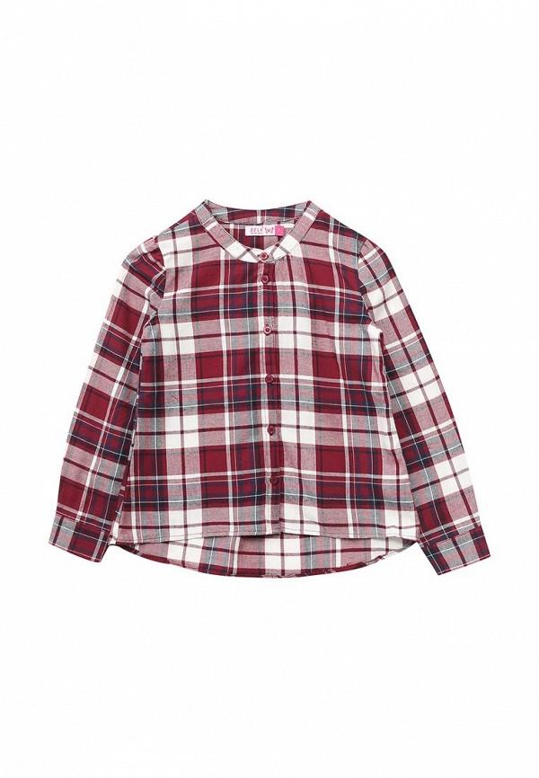 блузка sela для девочки, бордовая