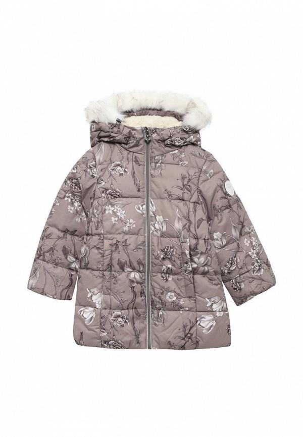 куртка sela для девочки, коричневая